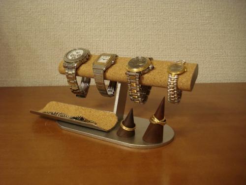 ウォッチスタンド だ円パイプ4本掛け腕時計、アクセサリースタンド RAT009