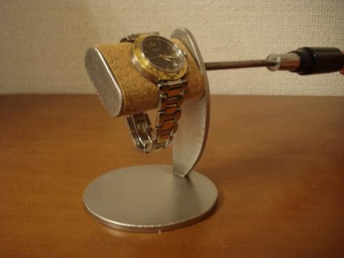 腕時計スタンド プラスドライバーでだ円パイプの角度を変えることが出来る腕時計スタンド スタンダード