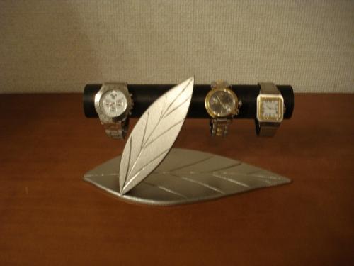 インテリア ブラックダブルリーフ腕時計スタンド WRF556