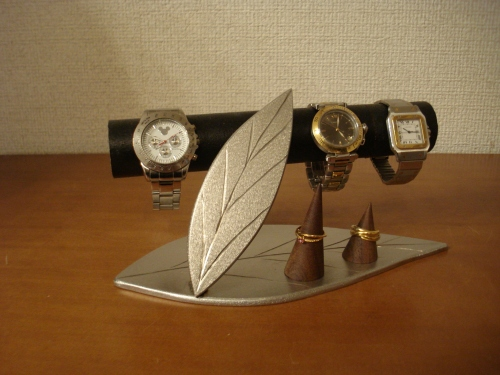 父の日プレゼント インテリア ダブルリーフダブルリング腕時計スタンド AKT552
