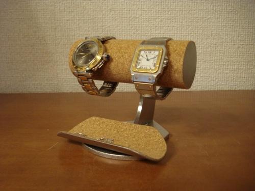 アクセサリースタンド 彼氏へのプレゼントに!2本腕時計スタンド スタンダード