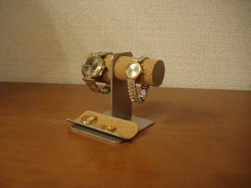 父の日のプレゼントに 腕時計スタンド 太いパイプ男性用 細いパイプ女性用黒腕時計スタンド スタンダード
