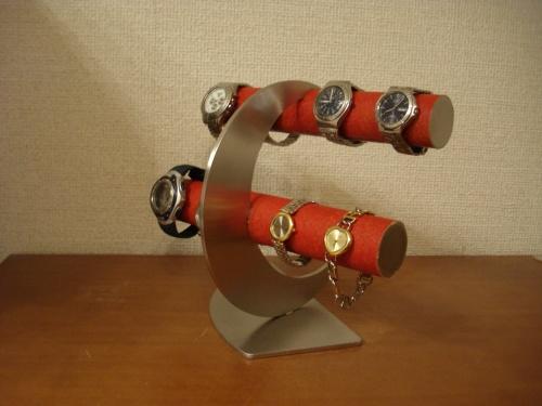腕時計スタンド 三日月8本掛け腕時計スタンド レッド! RAK887
