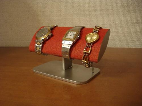 腕時計スタンド 誕生日プレゼントに!腕周りの太い方用レッド腕時計スタンド