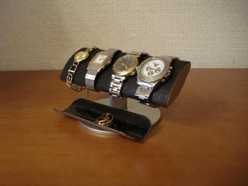 プレゼントに ブラックでかいだ円男性用腕時計スタンド ブラックハーフパイプトレイ RAT88