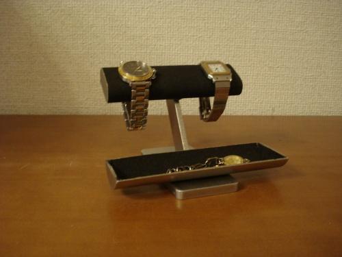 腕時計スタンド だ円パイプの角度が緩いどっしり安定ブラック腕時計スタンド RAK88