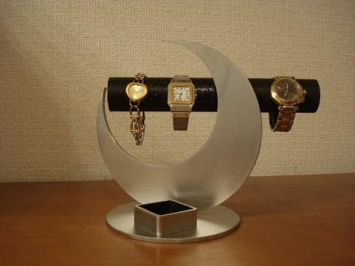 クリスマス 時計スタンド 腕時計 スタンド 誕生日プレゼント 新婚祝い 時計 スタンド ウォッチスタンド クリスマス ハロウイン 腕時計ラック 腕時計収納 腕時計飾る 腕時計を飾る アクセサリースタンド 三日月ブラック角トレイ腕時計スタンド RAK854