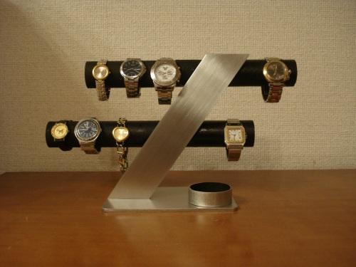 ウオッチスタンド ブラック6~8本掛けデザイン腕時計スタンド RAK7298