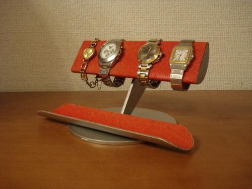 クリスマス 腕時計 スタンド 誕生日プレゼント 新婚祝い 時計 スタンド ウォッチスタンド クリスマス ハロウイン 腕時計ラック 腕時計収納 腕時計飾る 腕時計を飾る アクセサリースタンド レッド半円パイプ4本掛けロングハーフパイプトレイ腕時計スタンド RAK6199