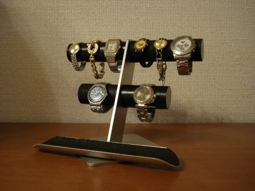 腕時計 飾る ブラック6~8本掛け腕時計スタンドロングトレイバージョン RAK7743
