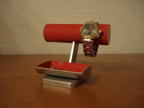 レッドとても可愛い小物入れトレイ付き腕時計スタンド RAK551