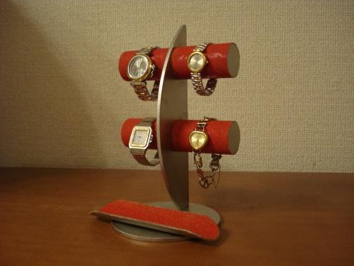 時計スタンド レッド三日月ムーン腕時計ディスプレイスタンド!ロングトレイバージョン RAK663