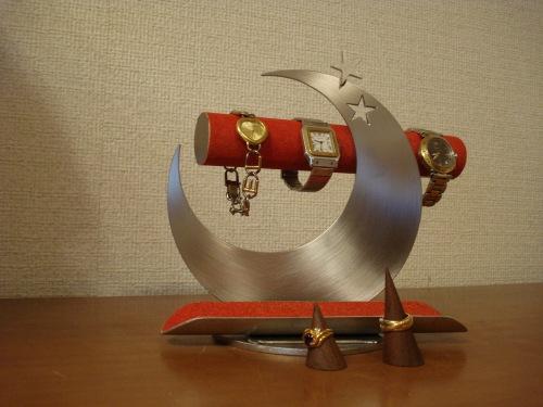 腕時計スタンド レッド飛び出す腕時計スタンド トレイ&指輪スタンド未固定バージョン RAK417