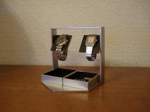 プレゼントに 腕時計ケース ブラックでかいトレイアクセサリー収納ケース風腕時計スタンド RAK5288
