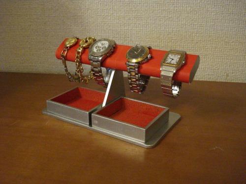 ウオッチスタンド レッドでかいダブルトレイだ円腕時計スタンド RAK759