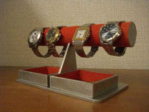 時計スタンド 腕時計 スタンド 誕生日プレゼント 新婚祝い 時計 スタンド ウォッチスタンド クリスマス ハロウイン 腕時計ラック 腕時計収納 腕時計飾る 腕時計を飾る アクセサリースタンド レッドダブルでかいトレイ丸パイプウォッチスタンド RAK009