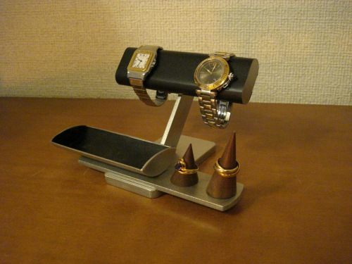 限定価格セール! 時計スタンド ブラック腕時計、リング、小物入れ付きアクセサリースタンド リングスタンド固定、トレイ端蓋あり, パネルShop アイピーエス:3a8e4866 --- canoncity.azurewebsites.net