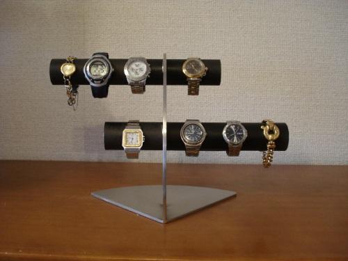 腕時計 ブラック腕時計収納、保管 6本掛けデザイン腕時計スタンド RAK447