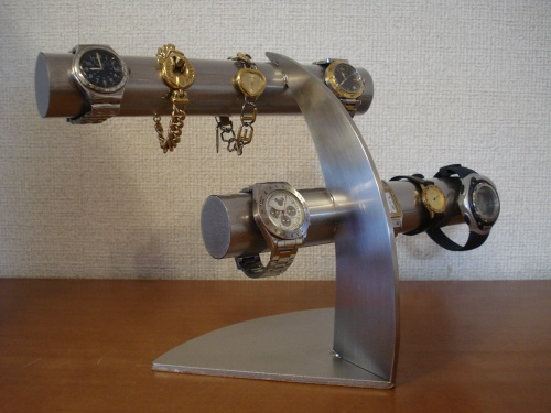 ウオッチスタンド ステンレス6本掛け腕時計スタンド RAK6632