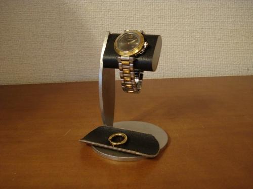 時計スタンド 腕時計 スタンド 誕生日プレゼント 新婚祝い 時計 スタンド ウォッチスタンド クリスマス ハロウイン 腕時計ラック 腕時計収納 腕時計飾る 腕時計を飾る ちょっと背が高いシングルブラックコルク腕時計スタンド ブラックトレイバージョン RAK739