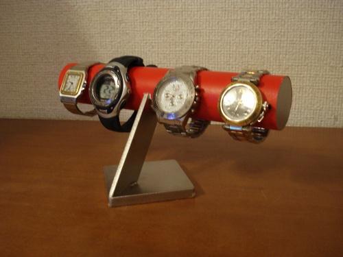 腕時計スタンド レッド4本掛けインテリア腕時計スタンド RAK663