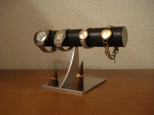時計 ラック ブラック未固定指輪スタンド付き腕時計スタンド RAK729