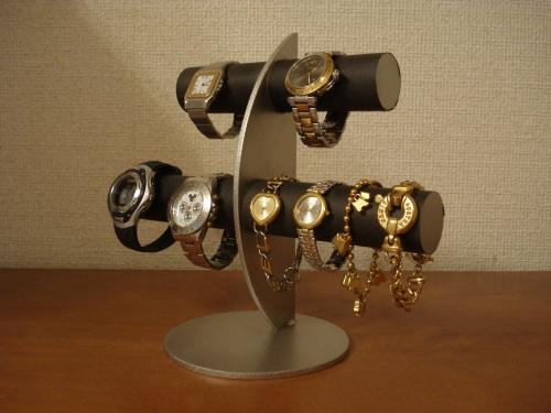 腕時計スタンド ブラック6本掛け腕時計スタンドカップル スタンダード RAK5122