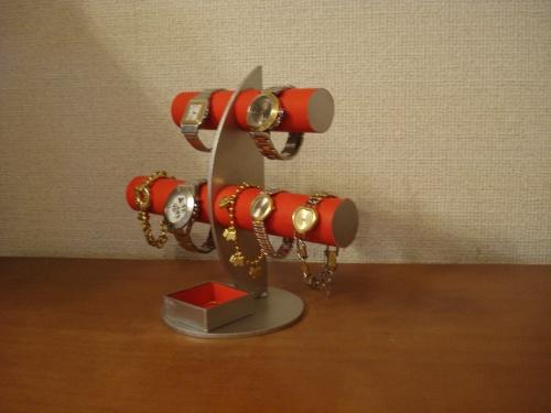 腕時計 スタンド レッド三日月6本掛け腕時計スタンド 四角いトレイバージョン RAK3087