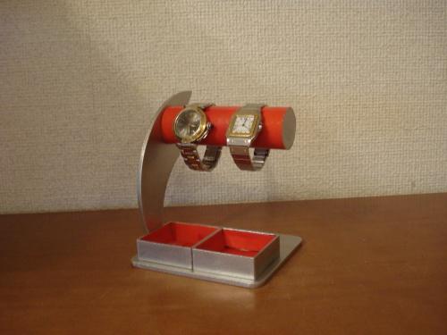 時計スタンド 腕時計 スタンド 誕生日プレゼント 新婚祝い 時計 スタンド 懐中時計スタンド ウォッチスタンド クリスマス ハロウイン 腕時計ラック 腕時計収納 腕時計飾る 腕時計を飾る レッドダブルトレイ2本掛け腕時計スタンド RAK5099