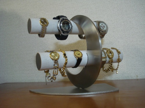 腕時計 飾る ホワイト三日月8本掛け腕時計スタンド RAK821