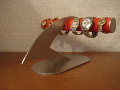 上質 腕時計スタンドで お気に入りの腕時計を飾ってみませんか?AKデザインの時計スタンド オーダーメイドも承ります ハンドメイドで丁寧に作っています 時計 レッドデザインインテリア4本掛け腕時計ディスプレイスタンド 商品追加値下げ在庫復活 RAK791 スタンド