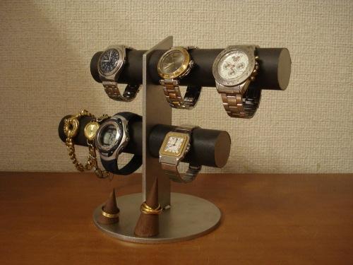 腕時計スタンド ブラック6本掛け腕時計スタンド 指輪スタンドバージョン(未固定 動かせます) RAK1866