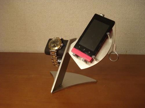 スマホ スタンド スマホ、携帯、腕時計スタンド だ円パイプ黒バージョン RAK7322