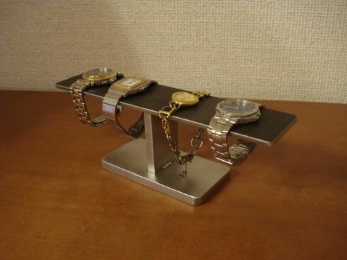 プレゼントに 腕時計スタンド 水平バーブラック腕時計収納スタンド RAK5900