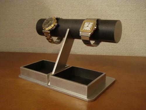 ウォッチスタンド どっしりブラック腕時計トレイスタンド RAK4399