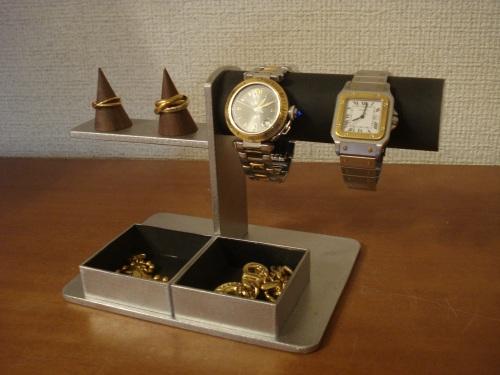 プレゼントに 腕時計スタンド ブラック腕時計、リング、トレイアクセサリースタンド RAK6643