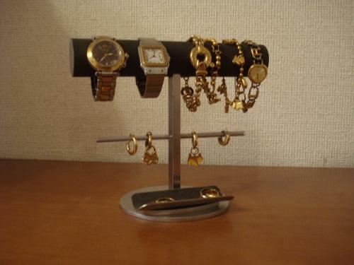 誕生日プレゼントに アクセサリースタンド 腕時計、ブレスレット、イヤリングスタンド トレイ付き
