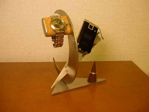 腕時計スタンド 携帯電話&腕時計スタンド 指輪スタンド付き