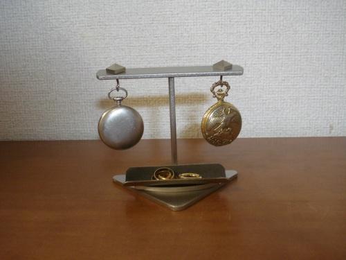 ハンドメイド インテリア懐中時計収納スタンド 取り外し出来るトレイバージョン