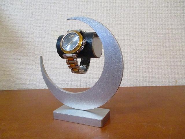 腕時計スタンド 丸パイプ三日月シングルスタンド ブラック