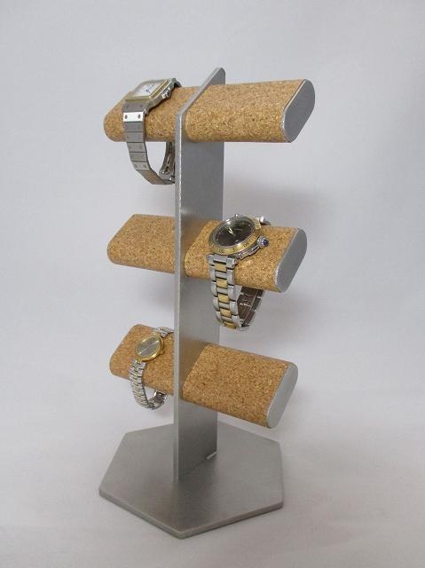 腕時計 スタンド 六角形台座6本掛けだ円パイプ腕時計スタンド  ak-design