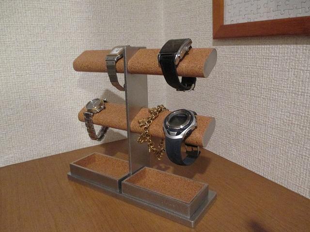 腕時計スタンド 新作 8本掛け楕円パイプ腕時計スタンド ak-design