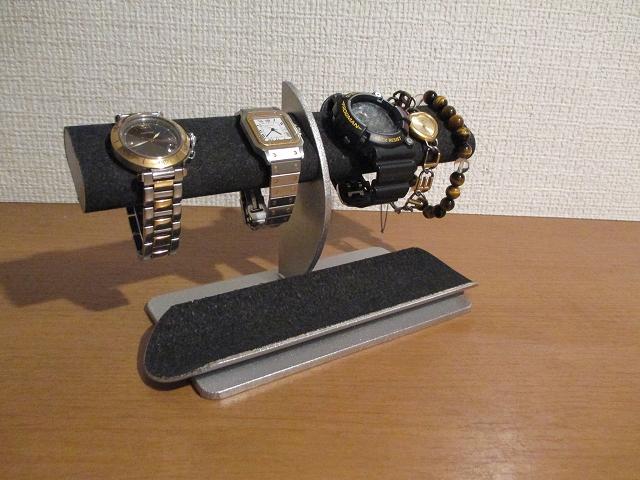 ブラック楕円パイプ腕時計スタンドロングハーフパイプトレイ ak-design 171220