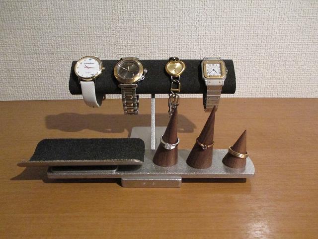 腕時計スタンド トレイを固定していないアクセサリースタンド ブラック 受注販売  181111