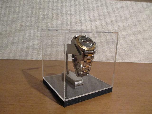 腕時計が宙に浮いた様に飾れる腕時計イリュージョンスタンドアクリルケース入り