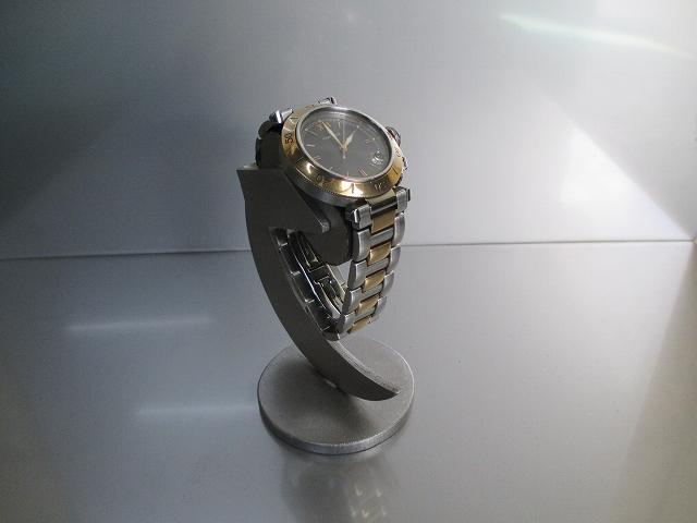腕時計 飾る 三日月支柱デザイン腕時計スタンドブラック 1918