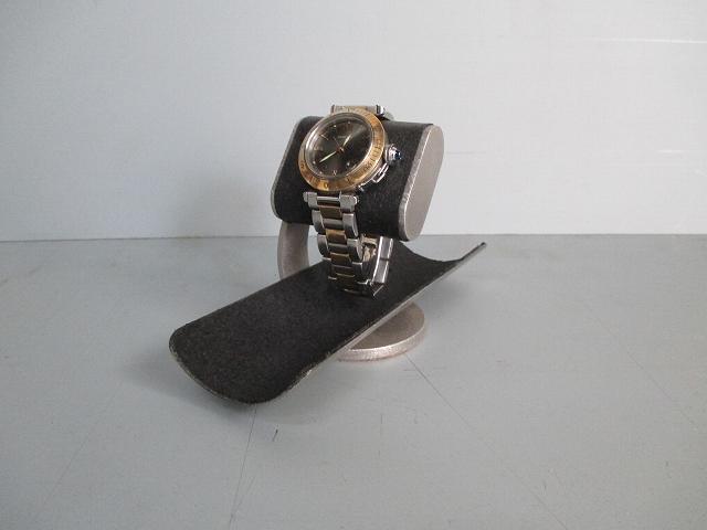 ブラックだ円パイプ支柱カーブ腕時計スタンドロングトレイ 2019-4-17