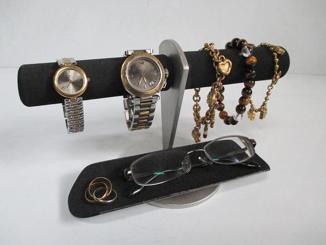 時計スタンド 腕時計 スタンド 4本用 誕生日プレゼント ノベルティー ウォッチスタンド クリスマス ハロウィン ケース 時計置き 時計ケース ディスプレイスタンド 記念品 ギフト 贈り物 時計 飾る 腕時計 収納 ブラックスポンジパイプ腕時計、アクセサリースタンド