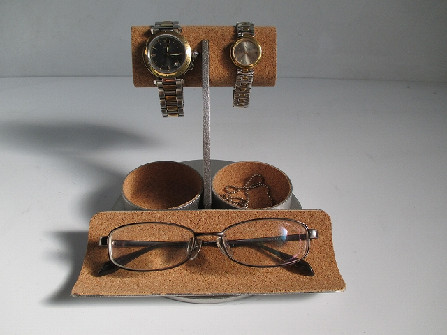 腕時計スタンド 時計飾る 誕生日プレゼント ノベルティ ウォッチスタンド ケース 時計置き 時計ケース ウオッチ ケース ハンドメイド オーダーメイド 記念品 ギフト 贈り物 ウォッチ飾る 腕時計 収納 メガネ、腕時計、ダブル丸トレイスタンド