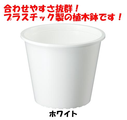 植木鉢 プラ鉢 内祝い プラスチック鉢 大和プラスチック製品 軽くて使いやすい ホワイト 返品不可 株 製品 7号 大和プラスチック